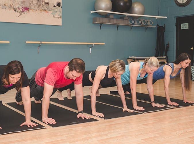 Pilates group mat class
