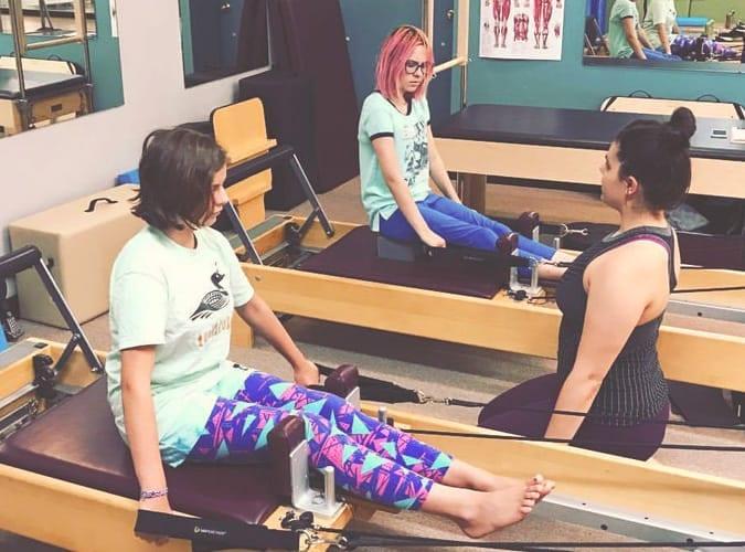 Teen Pilates class